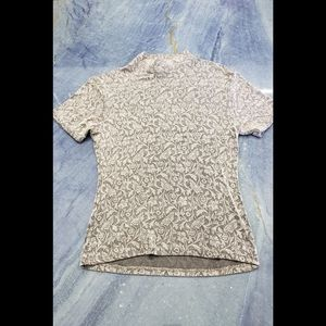 Express Tricot Gold/tan turtle neck top